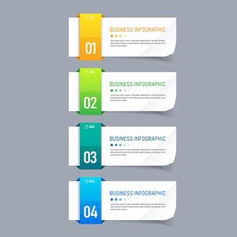Kreatywny plansza pięć kroków szablon.