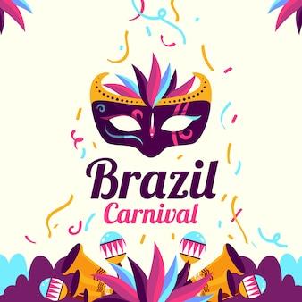 Kreatywny płaski karnawał brazylijski