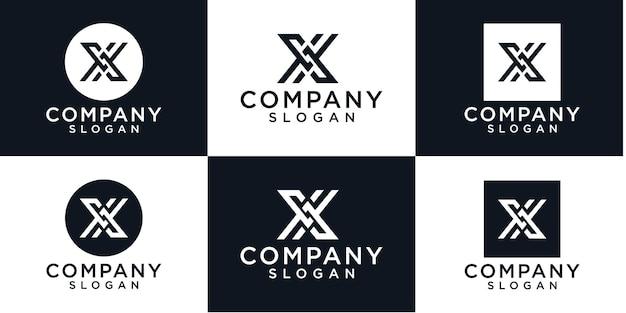Kreatywny projekt logo litery x