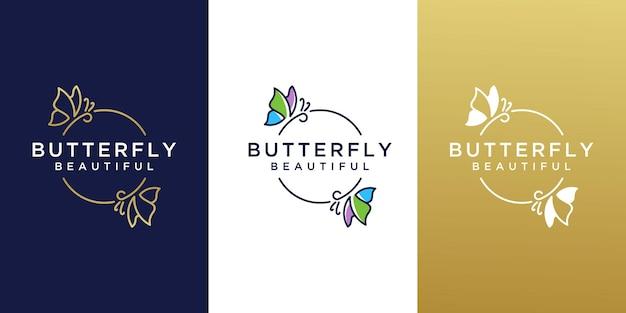 Kreatywny projekt logo motyla