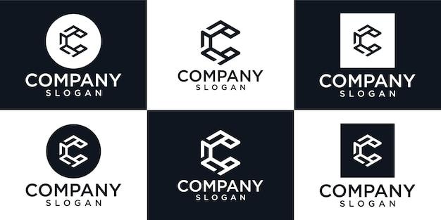 Kreatywny projekt logo początkowej litery c