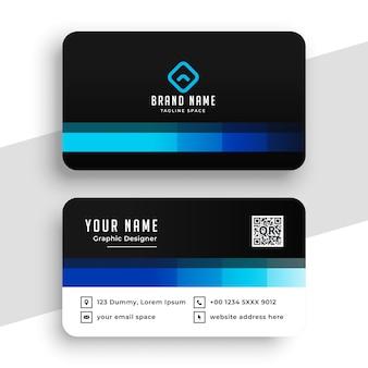Kreatywny projekt niebieskiej wizytówki
