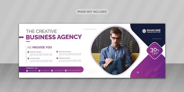 Kreatywny projekt okładki na facebooka lub projekt banera internetowego