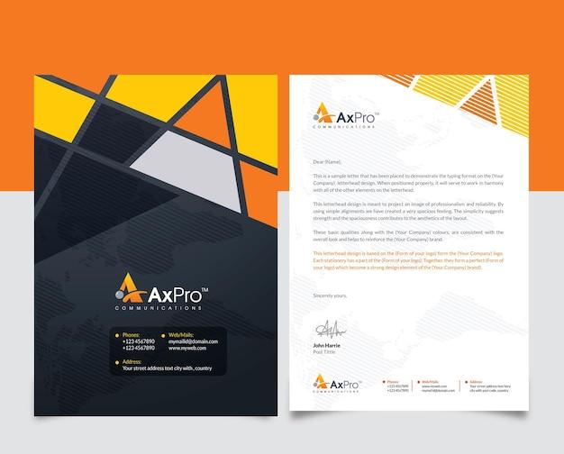 Kreatywny projekt papieru firmowego