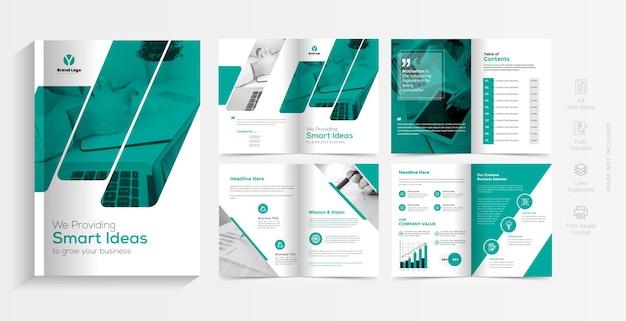Kreatywny projekt szablonu broszury biznesowej