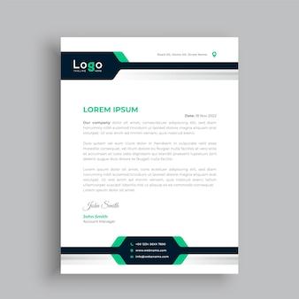 Kreatywny projekt szablonu papieru firmowego