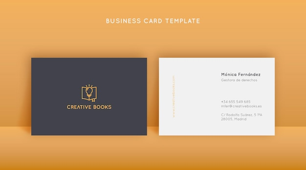 Kreatywny projekt szablonu wizytówki w stylu liniowym i minimalistycznym