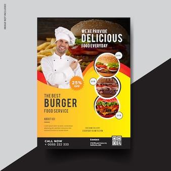 Kreatywny projekt ulotki burgera