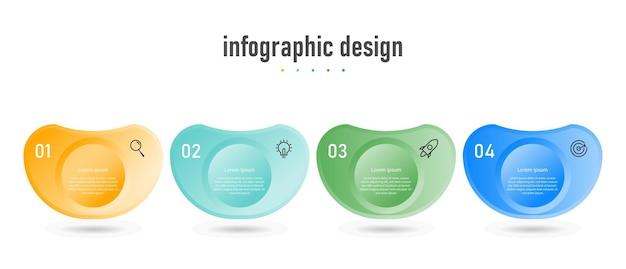 Kreatywny szablon biznesowy infografiki