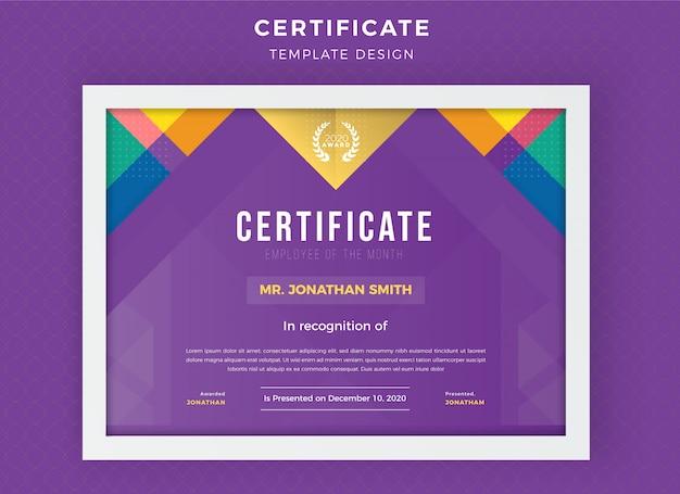 Kreatywny szablon certyfikatu