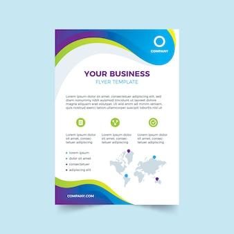 Kreatywny szablon dla ulotki biznesowej