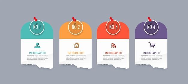 Kreatywny szablon infografiki czterech opcji