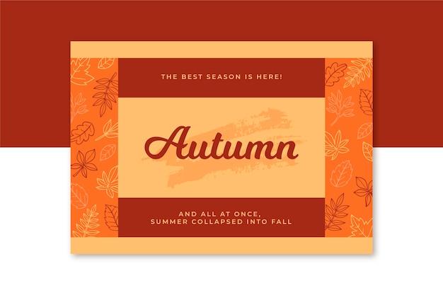 Kreatywny szablon karty jesień
