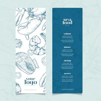 Kreatywny szablon menu restauracji