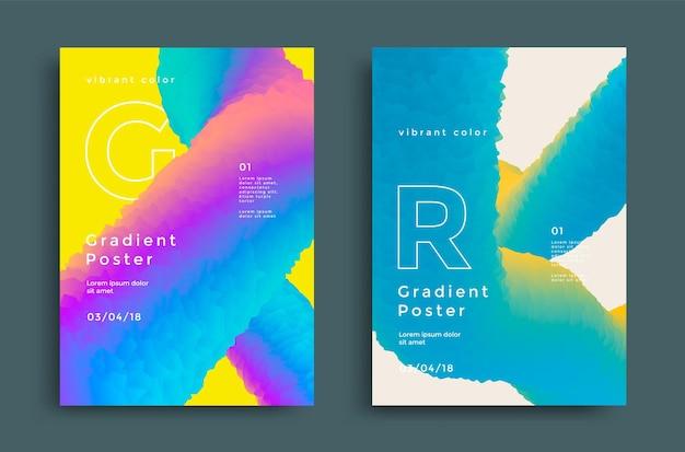 Kreatywny szablon okładki z żywymi gradientami kształtu.