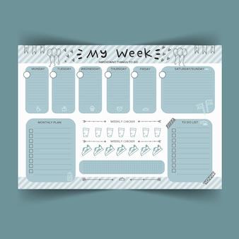 Kreatywny szablon planowania dziennika punktorów