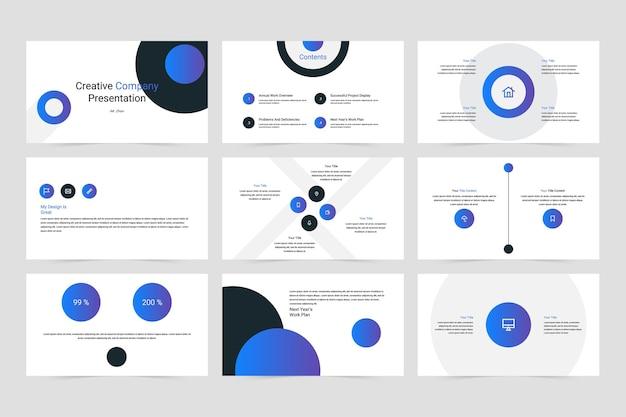 Kreatywny szablon prezentacji wektorowej firmy