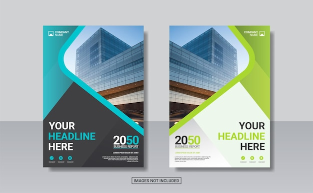 Kreatywny szablon projektu okładki książki korporacyjnej