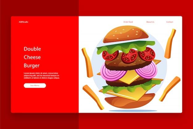 Kreatywny szablon strony internetowej
