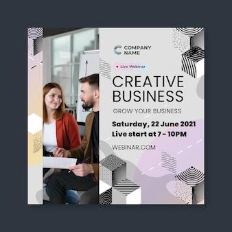 Kreatywny szablon ulotki biznesowej w kwadracie