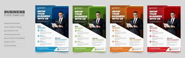 Kreatywny szablon ulotki biznesowejprojekt szablonu ulotki biznesowej korporacyjnej
