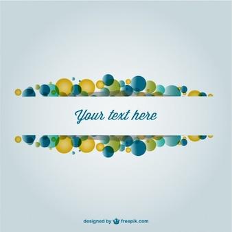 Kreatywny szablon z kolorowymi bąbelkami