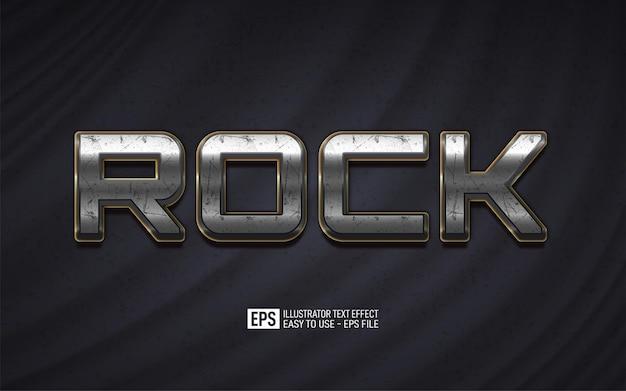 Kreatywny tekst 3d rock, edytowalny szablon efektu stylu