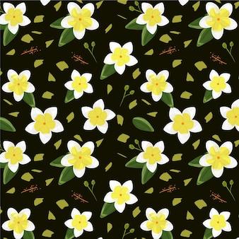 Kreatywny tropikalny wzór kwiatowy
