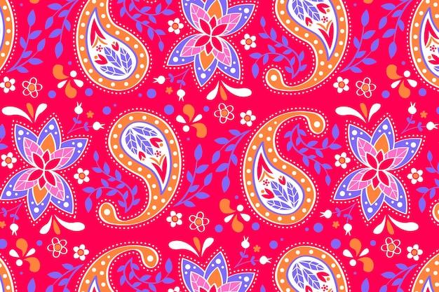 Kreatywny wzór tła paisley