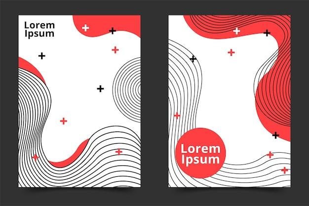 Kreatywny zestaw plakatów w stylu geometrycznym