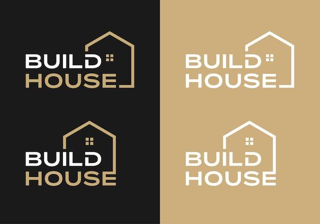 Kreatywny znak słowny do szablonu inspiracji projektu logo budowy domu