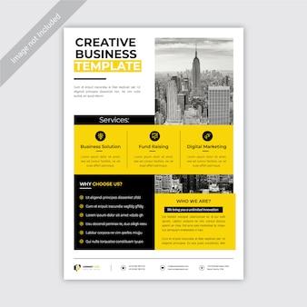 Kreatywny żółty biznes ulotki