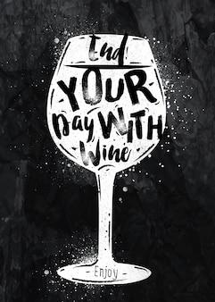 Kreda do wina plakatowego