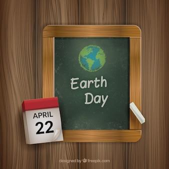 Kreda drawn dzień ziemi