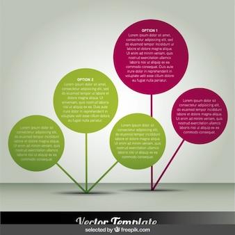 Kręgi infografika jak kwiaty