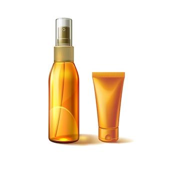 Krem do opalania z filtrem przeciwsłonecznym ochrona przed promieniowaniem ultrafioletowym do pielęgnacji skóry kosmetyczna plastikowa butelka z balsamem