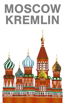 Kreml moskiewski wektor na białym tle