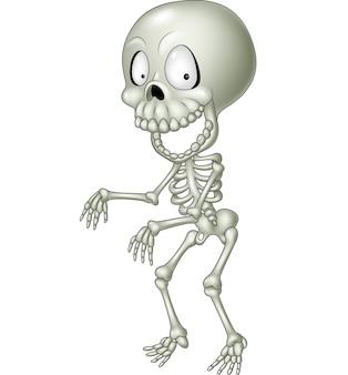 Kreskówka śmieszne szkielet człowieka