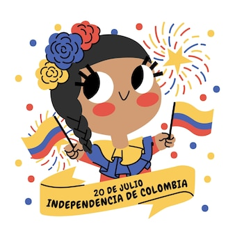 Kreskówka 20 de julio - independencia de colombia illustration