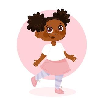 Kreskówka afrykańska amerykańska dziewczyna