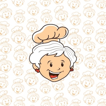 Kreskówka babcia szefa kuchni
