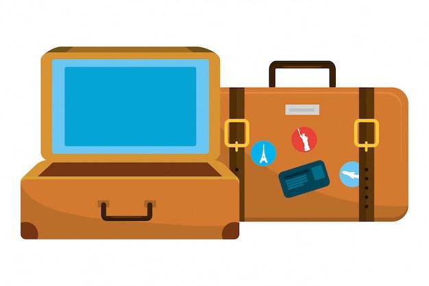 Kreskówka bagaż podróżny