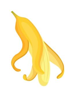 Kreskówka banan. owoce tropikalne, przekąska bananowa lub odżywianie wegetariańskie. owoce i dojrzałe słodkie potrawy. żółty banan kreskówka.