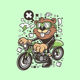 Kreskówka Beaver Racer