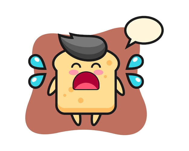Kreskówka chleb z gestem płaczu