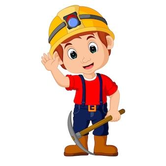 Kreskówka chłopców górników