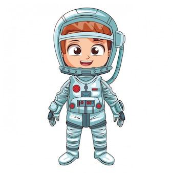 Kreskówka chłopiec astronauta