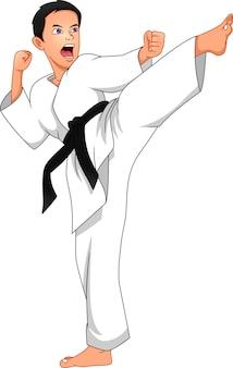 Kreskówka chłopiec karate