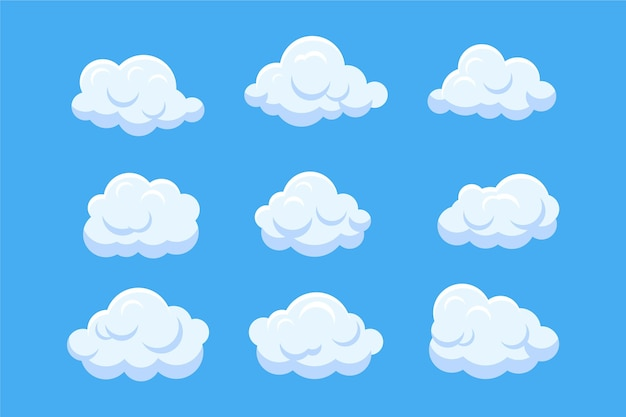 Kreskówka chmura w kolekcji nieba