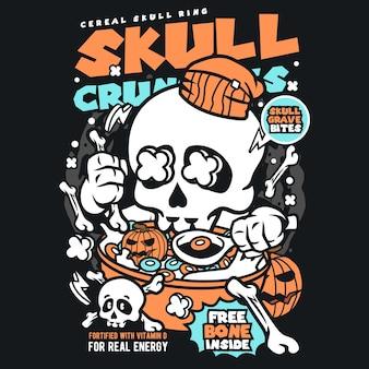 Kreskówka crunchies skull